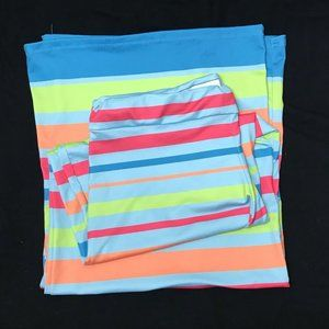 Lolly Wolly Doodle Stripped Wide Leg Spandex Pants